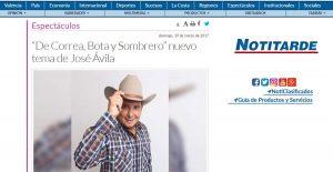 """José Ávila presenta su sencillo """"De Correa, Bota y Sombrero"""""""